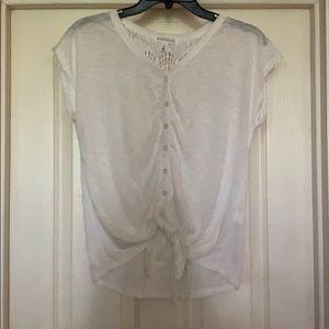 Aeropostale white shirt lace ties